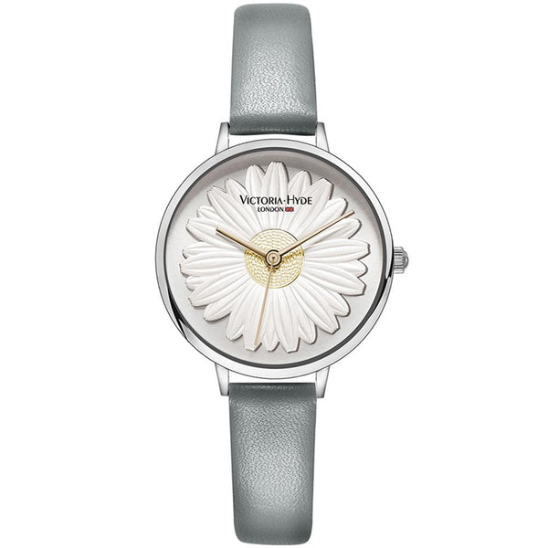 Watch Maida Vale Daisy Leather Grey Silver