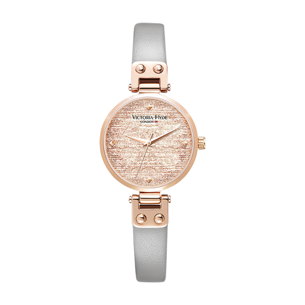 Watch Osterley Glossy Leather Grey Rose Gold
