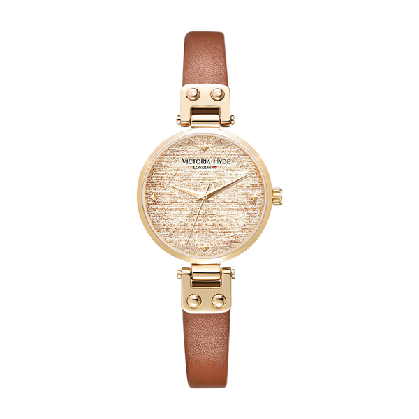 Watch Osterley Glossy Leather Brown Gold