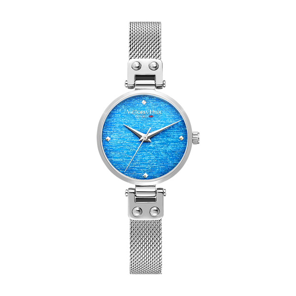 Watch Osterley Glossy Mesh Silver Blue