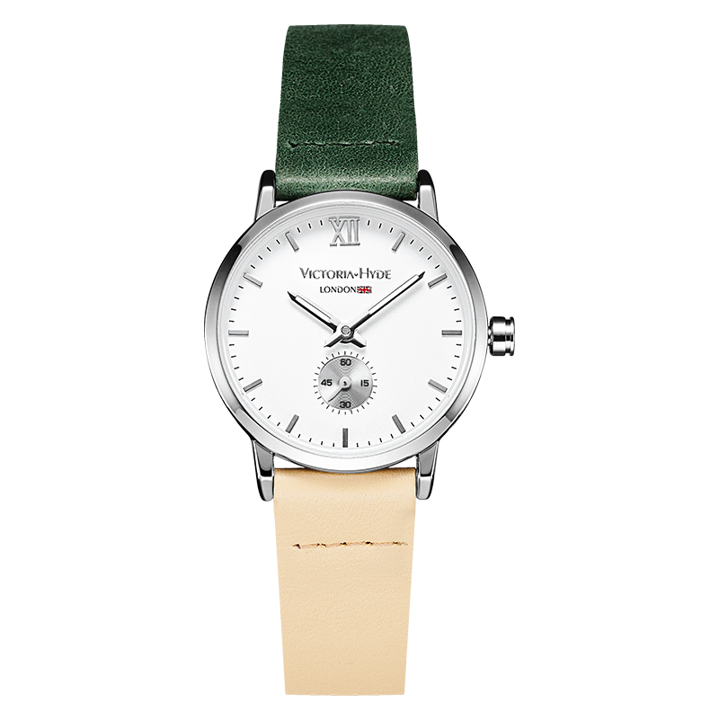 Watch London Eyes Leather Green Beige