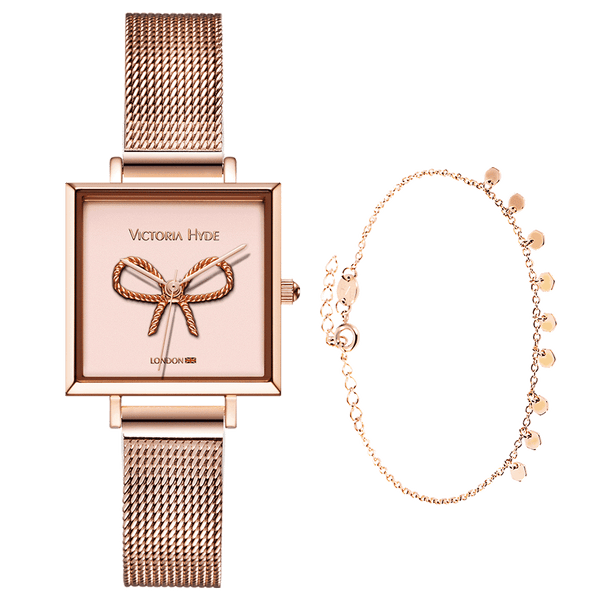 Gift Set Maida Vale Bow Edged Rose Gold