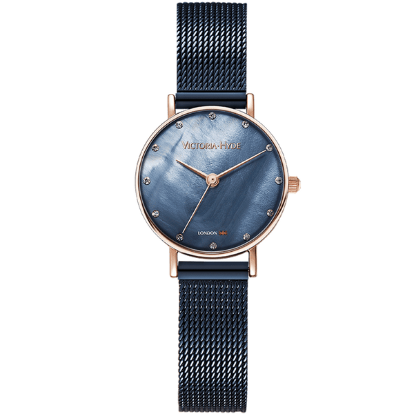 Watch Loughton Pearl Mesh Blue