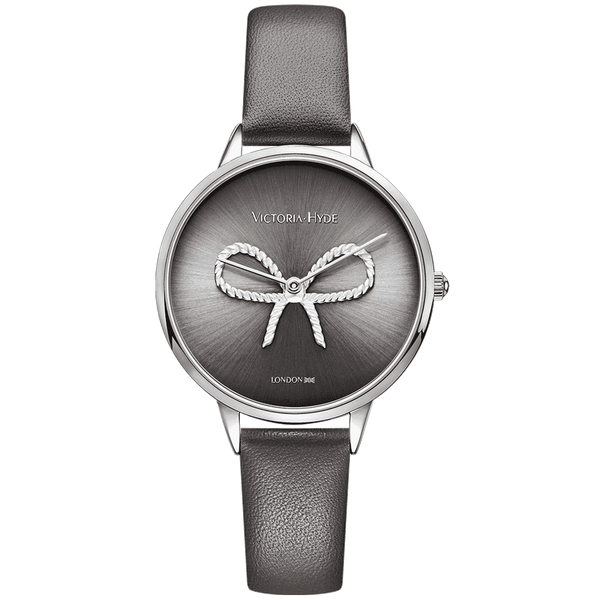 Watch Maida Vale Bow Leather Grey Silver