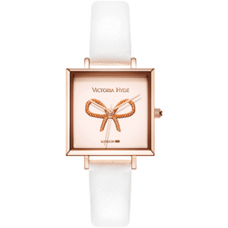 Watch Maida Vale Bow Edged Leather White Rose Gold