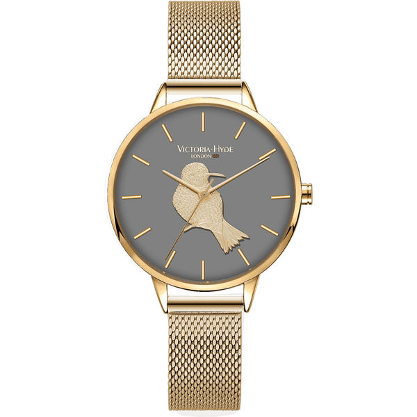 Watch Maida Vale Bird Mesh Gold Grey