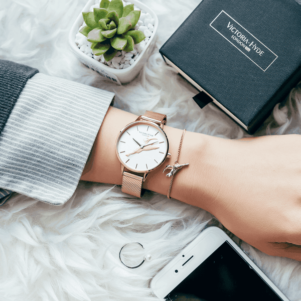 Watch Maida Vale Bird Mesh Rose Gold