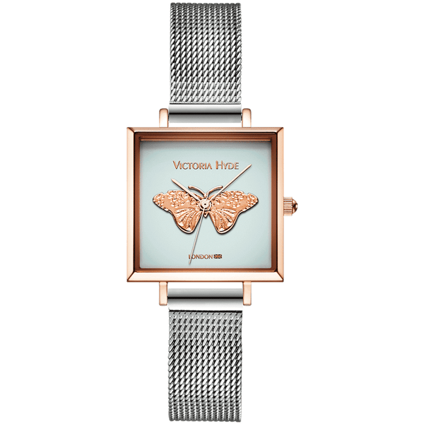 Watch Maida Vale Butterfly Edged Mesh Silver Blue