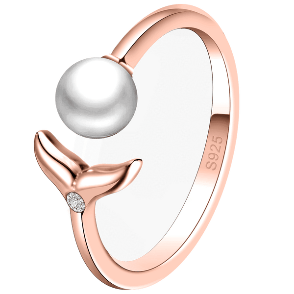 Ring Mermaid Pearl Rose Gold