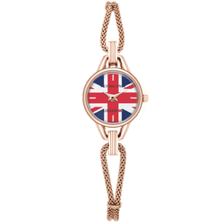 Watch Oxford Circus Round Mesh Rose Gold Great Britain