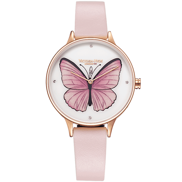 Watch Parsons Green Butterfly Leather Rose White