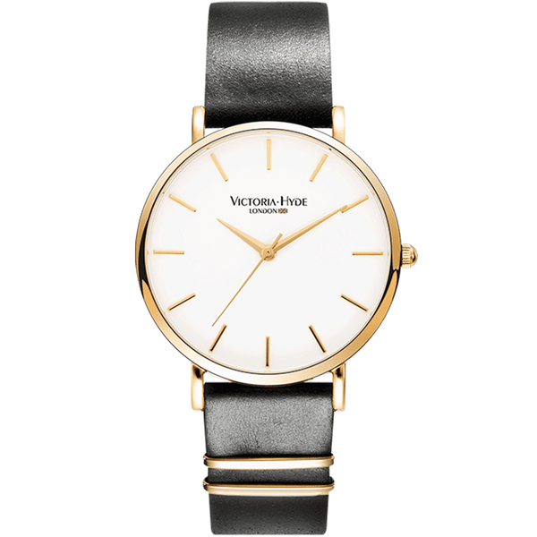 Watch Richmond Classic Leather Black White