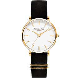Watch Seven Sisters Classic Leather Black White