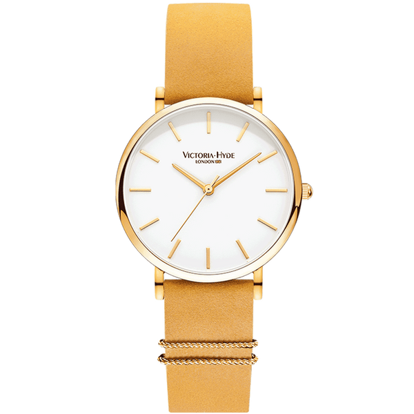 Watch Seven Sisters Classic Leather Gold White