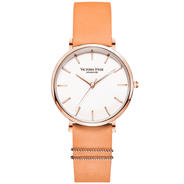 Watch Seven Sisters Classic Leather Orange White