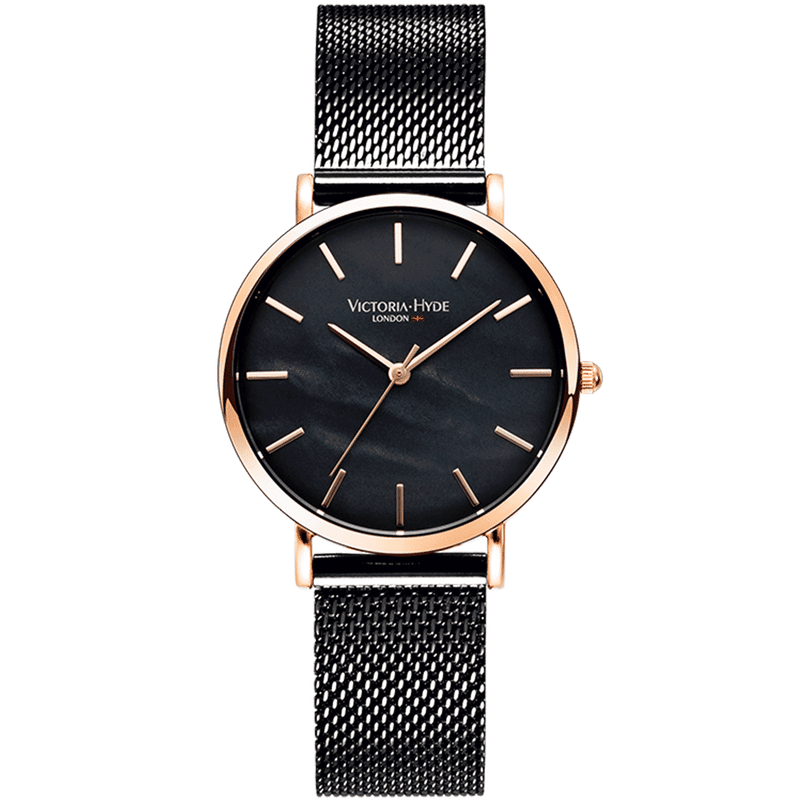 Watch Seven Sisters Mother of Pearl Mesh Black