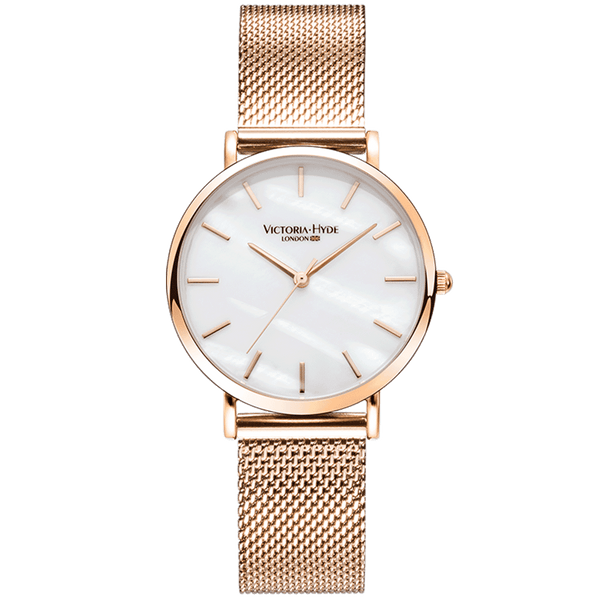 Watch Seven Sisters Mother of Pearl Mesh Rose Gold White