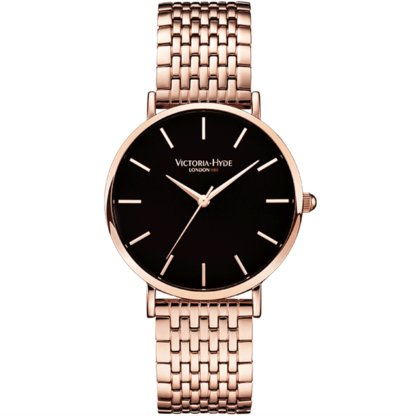 Watch Seven Sisters Classic Stainless Steel Rose Gold Black
