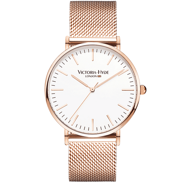 Watch Southfields Classic Mesh Rose Gold White