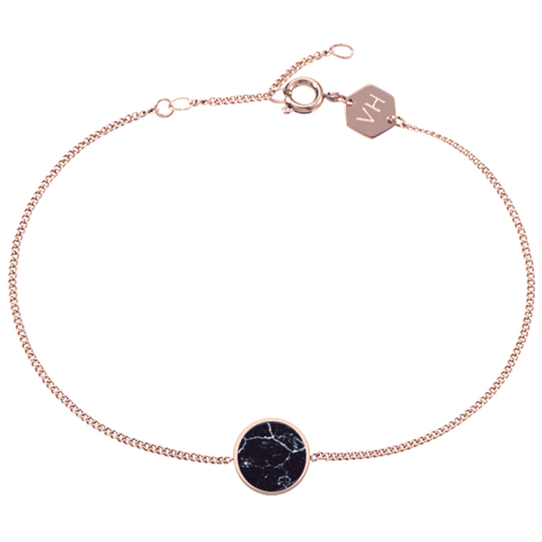 Bracelet Sudbury Hill Black Marble Rose Gold