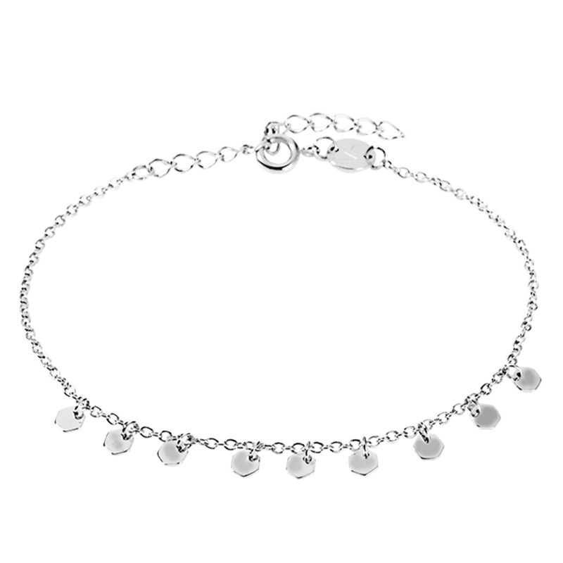 Bracelet Sudbury Hill Hexagon Silver