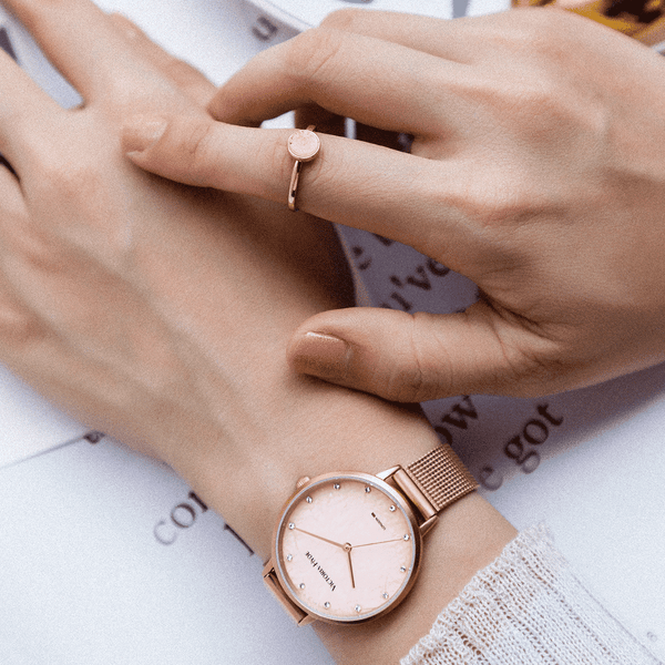 Watch Tower Hill Haze Mesh Rose Gold