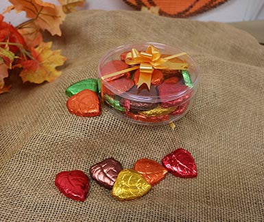 Foil Wrapped Fall Leaves