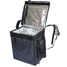 Load image into Gallery viewer, Black and Mobile Large Food Delivery Bag - Black & Mobile