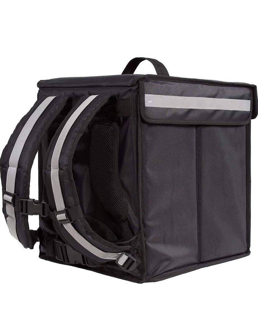 Black and Mobile Medium Food Delivery Bag - Black & Mobile