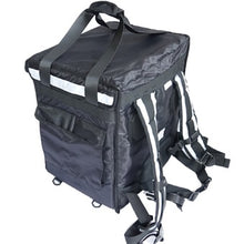 Load image into Gallery viewer, Black and Mobile Large Food Delivery Bag - Black and Mobile