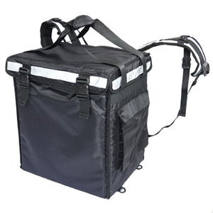 Black and Mobile Large Food Delivery Bag - Black & Mobile
