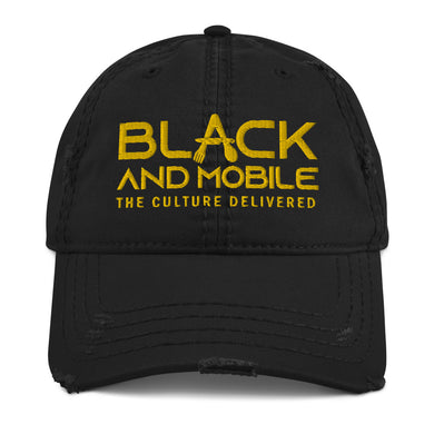 Black and Mobile Dad Hat - Black and Mobile