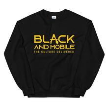 Load image into Gallery viewer, Black and Mobile Unisex Sweatshirt - Black and Mobile