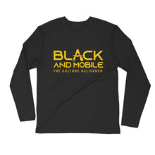 Load image into Gallery viewer, Black and Mobile: The Culture Delivered Men's Long Sleeve Shirt