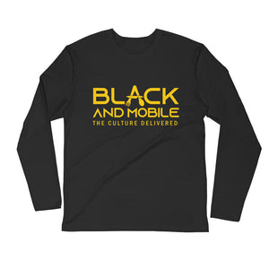 Black and Mobile: The Culture Delivered Men's Long Sleeve Shirt