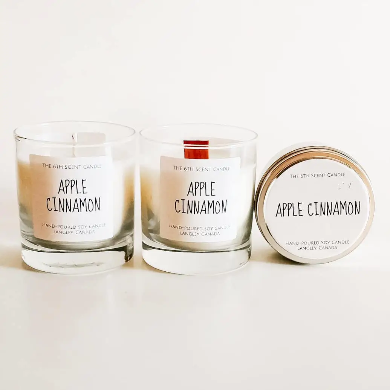 The 6th Scent Candle Apple Cinnamon Soy Candle