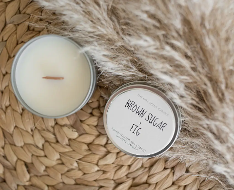 The 6th Scent Candle Brown Sugar + Fig Soy Candle