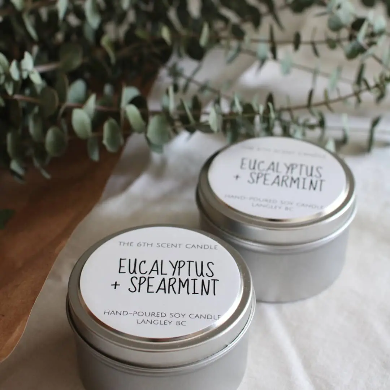 The 6th Scent Candle Eucalyptus + Spearmint Soy Candle