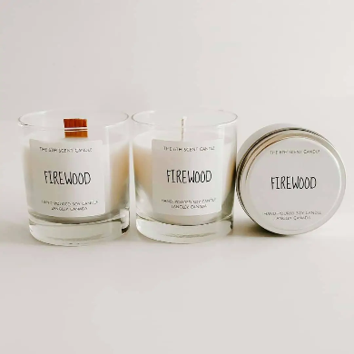 The 6th Scent Candle Firewood Soy Candle