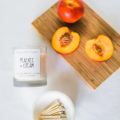 The 6th Scent Candle Peaches + Cream Soy Candle