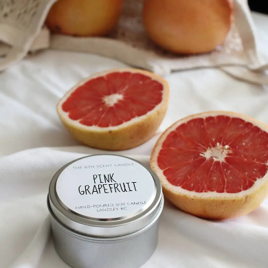 The 6th Scent Candle Pink Grapefruit Soy Candle