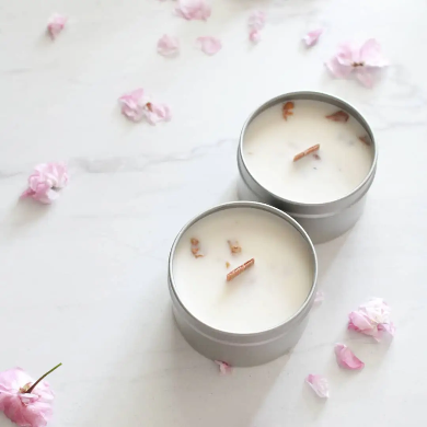 The 6th Scent Candle Rose Petal Soy Candle