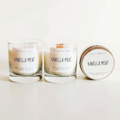 The 6th Scent Candle Vanilla Mint Soy Candle