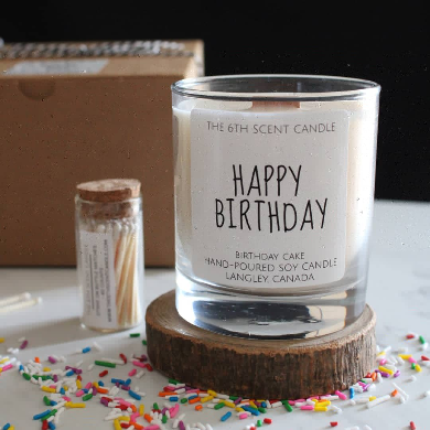 The 6th Scent Candle Happy Birthday Soy Candle