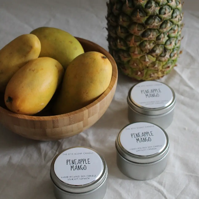 The 6th Scent Candle Pineapple Mango Soy Candle