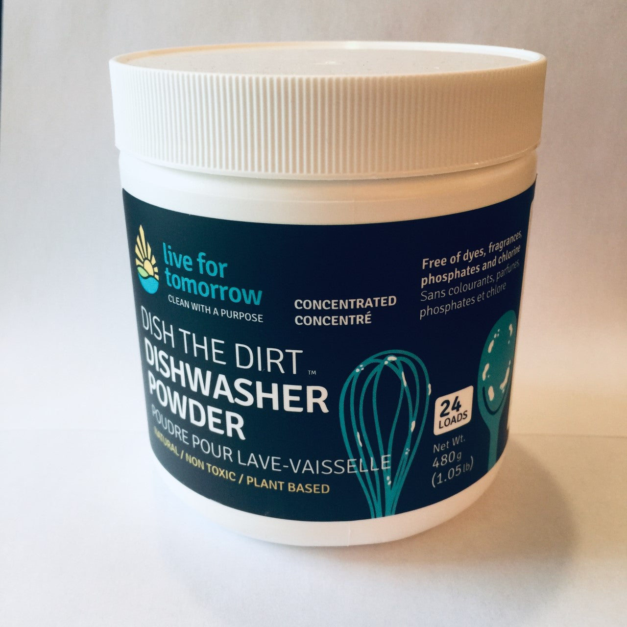 LFT Dishwasher Powder Unscented -480g I 1.05 lb, 24 loads