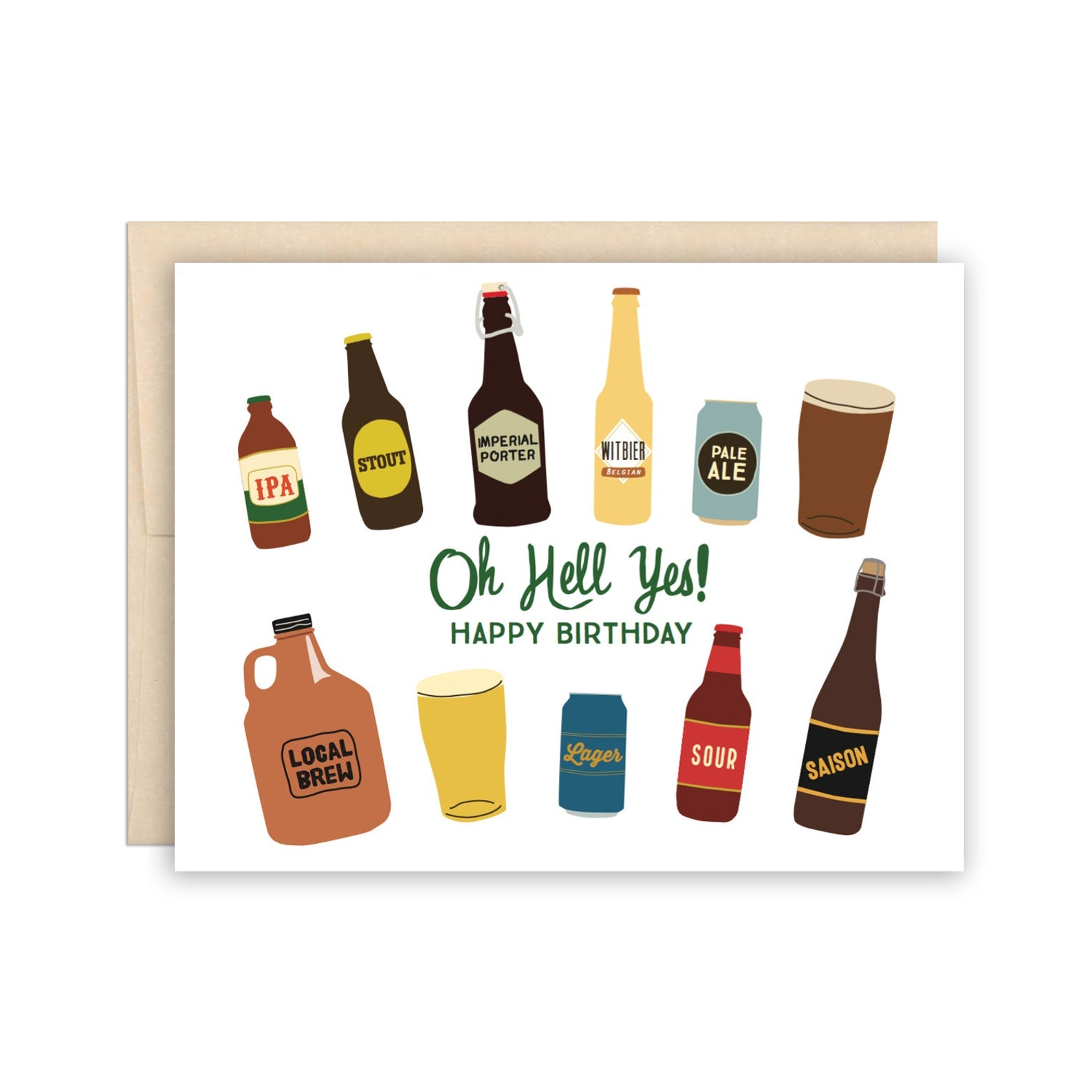 The Beautiful Project Greeting Cards - Oh Birthday Beers