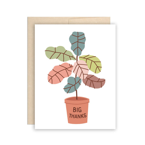 The Beautiful Project Greeting Cards - Fiddle Leaf Thanks