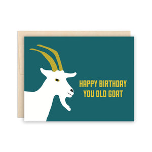 The Beautiful Project Greeting Cards - Old Goat