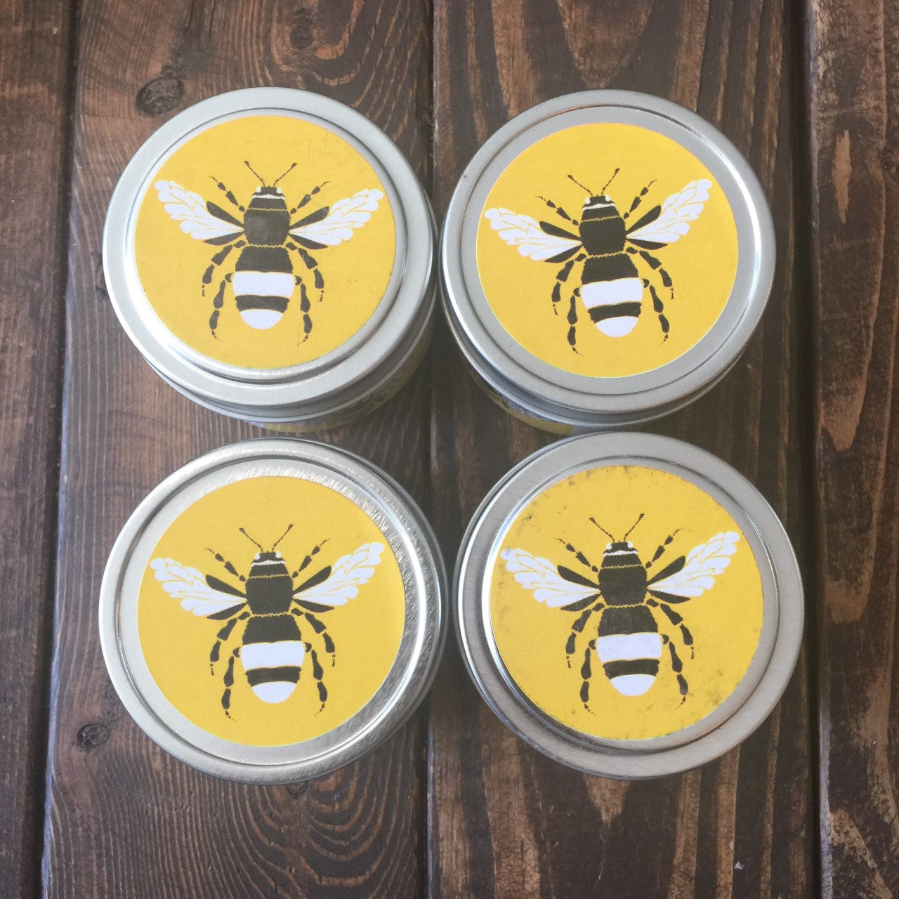 Organic Beeswax Candle 4oz tin